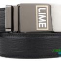 Custom branded LIME belt buckle