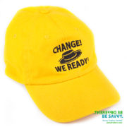 Embroidered cap for political campaign