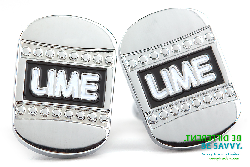 Custom cuff links for LIME corporate wear