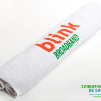 Printed hand towel ideal for Carnival and outdoor promotional events