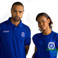 Men's and women's wear with embroidered logos ideal for promotional events and casual corporate wear