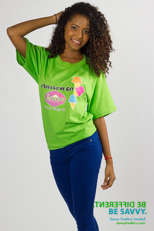 Printed t-shirt for corporate branding and promotion