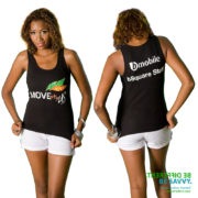 Printed Carnival tank top for corporate branding and promotion