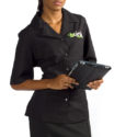 Women's shirt with embroidered company logo